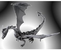 Boystoys HK Design - Drache Dragon Drachenfigur & Briefbeschwerer - Metall Art Fantasy-Figur - Geschenkideen Deko Skulptur Bürodeko - hochwertige Original Schraubenmännchen Figuren handgefertigt