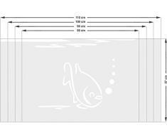 Graz Design 980158_90x57 Sichtschutzfolie Fenstertattoo Fensteraufkleber Deko fr Badezimmer Fisch Blasen Unterwasser (Gre=90x57cm)