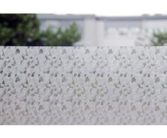 Tamia-Home Statische Fensterfolie 90% UV-Sonnenschutz Selbsthaftende Sichtschutzfolie Glasdekor Steinzeug S024 (60 * 150cm)