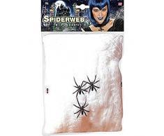 Spinnennetz Netz mt 3 Spinnen Spider Halloween Deko Dekoration Spinnweben Gothic