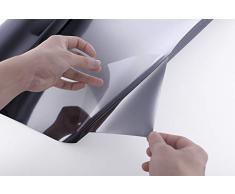 Essort Sonnenschutz Fensterfolie Selbsthaftend, Spiegelfolie für Fenster, Folie für Sonnenschutz Fenster Außen und Innen, Sonnenschutzfolie für Schlafzimmer UV-Schutz Schwarz 60 x 200 cm …