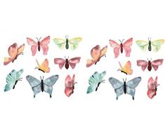 TinyFoxes Fensterbild Schmetterlinge im Set aus 16 einzelen Teilen