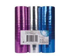 NEU Luftschlangen 3er-Pack, metallic