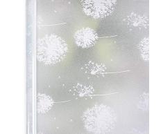 Homein Fensterfolie Pusteblume 90x200 cm, Milchglasfolie für Fenster Klebefolie Bad Statisch Haftende Sichtschutzfolie Blickdicht Duschkabine Selbstklebende Folie Sichtfolie UV Schutz & Sichtschutz