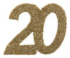 20 20 20 Geburtstag Confetti 20 Geburtstag Konfetti 20 Streudekoration Gold