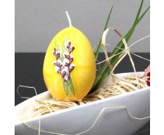 Osterkerze Kerze Osterei Ei Palmkätzchen Kerzen 65/40 mm zitrone gelb, 6 Stk.