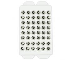 Backdekoration Fußbälle aus Zucker | Ø ca. 9mm/Deko-Teil - 48 Stück in der 8g Packung | Streudekoration für Siegertorten Motto Party Fußball Soccer Football - Zuckerdekor passend zur Fussball EM