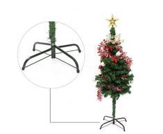 Idiytip Weihnachtsbaumständer 4 Fuß Base Cast Ständer Weihnachtsbaum Metallhalter Home Party Dekoration