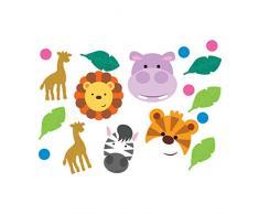 NET TOYS 1 Beutel Party-Konfetti Dschungel-Tiere - 14g - Tierische Party-Tisch-Deko Safari Streu-Artikel Afrika - Genau richtig für Kinderfest & Kindergeburtstag