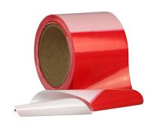 Absperrband, Flatterband, Warnband rot-weiß 80 mm reißfest 250m