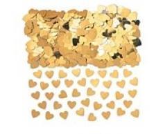 Herzförmiges Tisch-Konfetti, goldfarben, glitzernd, fabelhafte Tischdekoration für eine Hochzeit oder ein Jubiläum, 14 g pro Packung