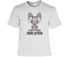 Geschenk zum Osterhasen cooles T-Shirt zur Osterzeit Frohe Ostern Geschenk Ostern Geschenkidee Osterhase Ostern Gr: M Farbe: grau