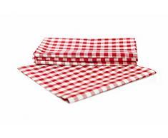 Landhaus Tischdecken in Karo Farbe und Größe wählbar 100% Baumwolle (rot-weiß kariert, 80x80 cm eckig)
