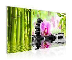 Bilder Orchidee Feng Shui Wandbild Vlies - Leinwand Bild XXL Format Wandbilder Wohnzimmer Wohnung Deko Kunstdrucke Pink 1 Teilig - MADE IN GERMANY - Fertig zum Aufhängen 502012a