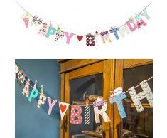 SUNBEAUTY 2 Meter Happy Schrift String Girlande Kinder Geburtstag Party Feier Dekoration (Happy Birthday)
