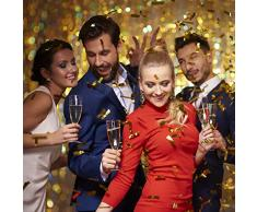 Relaxdays 2 x Party Popper 40 cm im Konfettikanonen Set, Konfetti Bombe für Hochzeit und Geburtstag, Konfetti Shooter 6-8 m Effekthöhe, Silber/Gold metallic