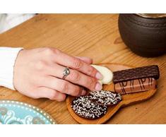 Windalf Handmade Kleine Schlüssel- & Schmuck Herz Holzschale ABY Ø 12 cm Herzförmiges Geschenk Teakschale Pralinen Wurzelholz