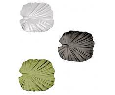 Palmblattschale, SERIE NATURAL COLLECTION, aus Melamin, stapelbar und spülmaschinenfest, in weiß, schwarz oder blattgrün / Größen: 27 x 27, 35 x 34 oder 42 x 42 cm | SUN (A3 - 42 x 42 cm, weiß)