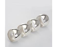 Dekolust Serviettenringe Versilbert Silber 4cm 4er Set Servietten Ringe Tischservietten Ring Serviettenring