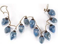 HEITMANN DECO Glaszapfen-Girlande blau - dekorative Weihnachtsgirlande - Weihnachtsdeko