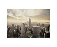 Aluminium Print gebürstet - Wandbild Manhattan Dawn - Quer 2:3, Größe HxB: 75cm x 120cm
