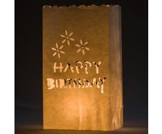 Happy Birthday 10 Stück Lichttüten Teelichthalter Kerzenhalter Party Dekoration von Kurtzy TM