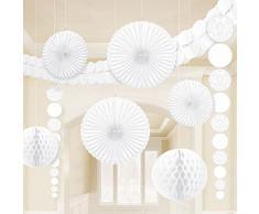 Amscan Party-Deko-Set aus Damast, Weiß