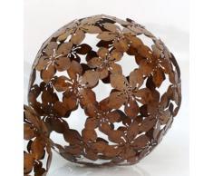 Dekokugel Blume Metall braun D 25 cm Gartenkugel Kugel