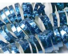 holographische Luftschlangen (hellblau)
