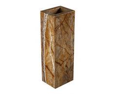 Yuchengstone Design Vase aus indischem Marmor, Marmorvase, Vase Blumenvase, massiv, rechteckig, Maße: 24x10x8cm, Gewicht: 2,6Kg