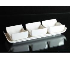 Dipschalen Set 4-tlg. Schalen-Set aus Porzellan Servierschale Snackschale