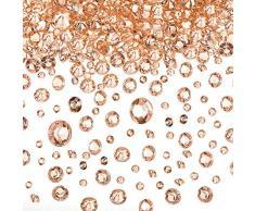 Transparente Hochzeits-Streudekoration, 10.000 Acryl-Kristalle, Diamanten, Strass für Hochzeit, Brautparty, Vasen, Perlen, acryl, rose gold, 3/ 6/ 10 mm