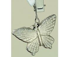 Tischdeckenbeschwerer Tischdeckengewichte Eisen silber Schmetterlinge 4er Set