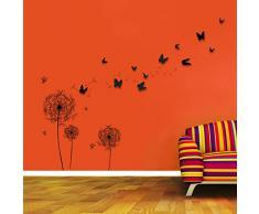 Walplus - COM Wandaufkleber Sticker Papier Kunst Dekoration Farbiger Baum Mit Fotorahmen 3D Schmetterlinge