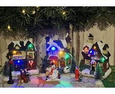 Weihnachtsstadt WINTER VILLAGE mit LED-Beleuchtung 25 teilig Weihnachtsdorf