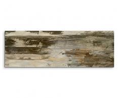 150x50cm Leinwandbild Auf Keilrahmen Malerei Acryl Abstrakt Braun Grau  Beige Wandbild Auf Leinwand Als Panorama