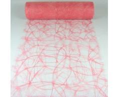 1m Sizoweb® Original Tischband Tischläufer Tischdeko Faserseide 30cm / 300mm, Farbe:rosa