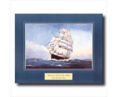 Weißkopfseeadler Clipper Schiff Maritime Wandbild, 16 x 20
