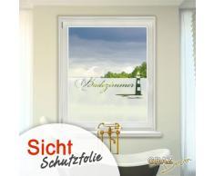GRAZDesign Sichtschutzfolie Schriftzug Badezimmer, Matte Glasdekorfolie, Fensterfolie zur Deko/Sichtschutz / 80x57cm
