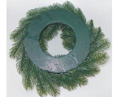 Lönartz® Naturgetreuer künstlicher Adventskranz (PE mit Styroporkern), Höhe: 9cm / Ø30cm (PE-K30)