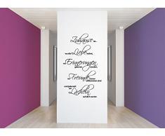 Grandora W3049 Wandtattoo Spruch Zuhause ist wo… I schwarz 76 x 125 cm I Flur Wohnzimmer selbstklebend Aufkleber Wandaufkleber Wandsticker