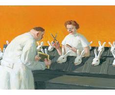 Postkarte A6 • 15073 Frisch frisiert zum Osterfest von Inkognito • Künstler: Michael Sowa • Satire • Fantastik • Ostern