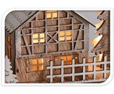 made2trade LED Weihnachtsdorf aus Holz
