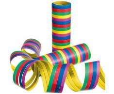 Susy Card 11144706 Luftschlangen, 10-er Streifen, gelb/lila/blau/rot/grün