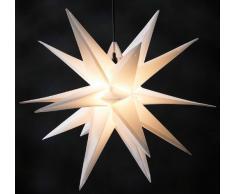 Outdoor Adventsstern Leuchtstern 3D Polypropylen weiß 50 cm Ø - Größe Ø 50 cm