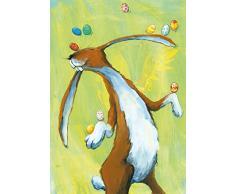 Postkarte A6 • 37003 Ei-Jongleur von Inkognito • Künstler: Angela Holzmann • Ostern