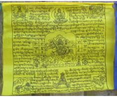 BUDDHAFIGUREN/Billy Held Buddhistische Gebetsfahnen 8,25 m Länge, 25 Blatt - jede Fahne hat eine Größe von 34X34 cm, Buddha Dekoration