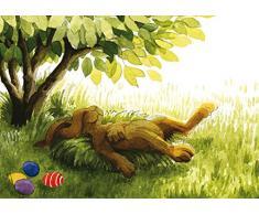 Postkarte A6 • 63201 Müder Hase von Inkognito • Künstler: Kathrin Kraft • Ostern