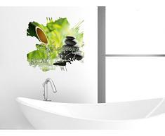 Graz Design 651012_57 Wandsticker Wandtattoo Wandaufkleber Badezimmer Entspannung Oase Relax (Gre=60x57cm)