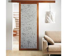 Fenstertattoo Glasdekorfolie Blumen Sichtschutzfolie Fenster-Dekor Größe: 45cm*100cm